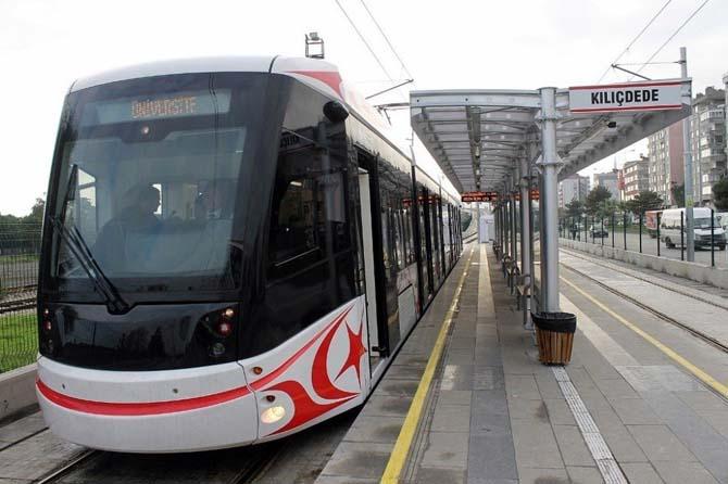 Samsun'da raylı sistem yarın 12.00-18.00 saatleri arası ücretsiz