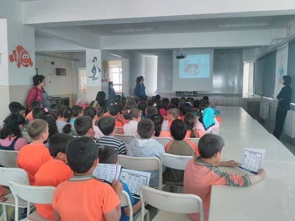 Lapseki TSM'den ilköğretim öğrencilerine hijyen eğitimi