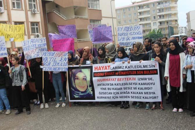 Siirtliler Nurhayat'ın katil zanlısına idam istedi