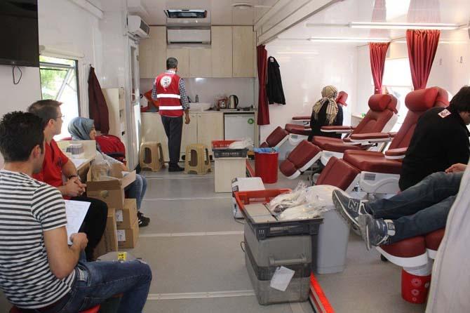 Sungurlu'da 150 ünite kan toplandı