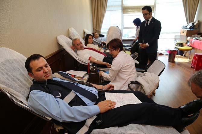 Başkandan kan bağışına destek