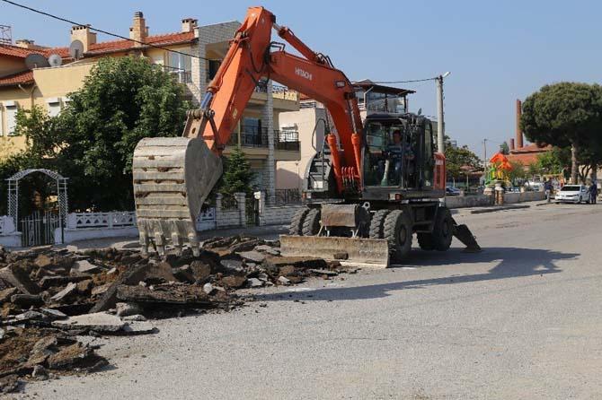 İskele Mahallesi ana caddelerinde yol yapım çalışması başladı