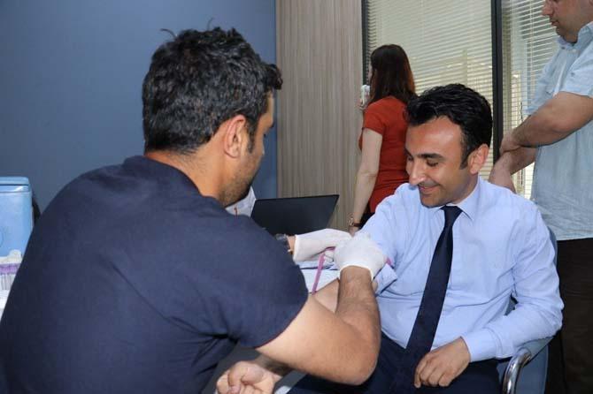 Büyükşehir çalışanlarına sağlık taraması yapıldı