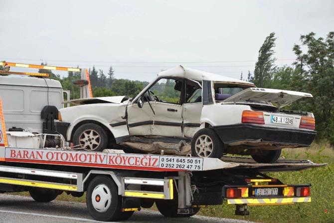 Muğla'da cenaze dönüşü kaza; 1 ölü