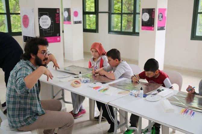 Misili çocuklar Nilüfer Sanat Çalıştayı'nda