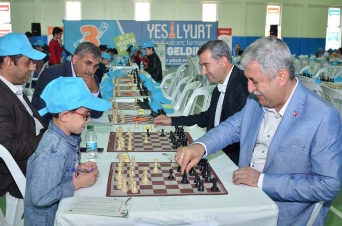 3.Yeşilyurt Ulusal Satranç şenliği tamamlandı