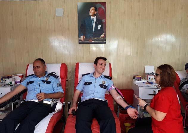Trafik Haftası etkinliğinde kan bağışı