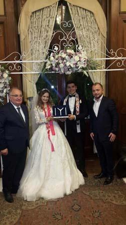 AK Parti Bilecik İl Başkanı Karabıyık, genç çiftin mutluluklarına ortak oldu