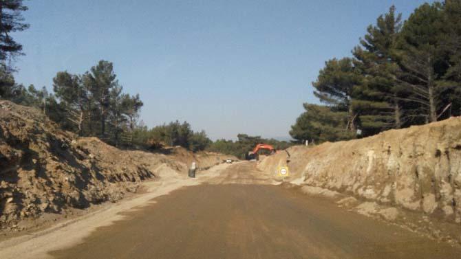 Çile yolunda inşaat hızla devam ediyor