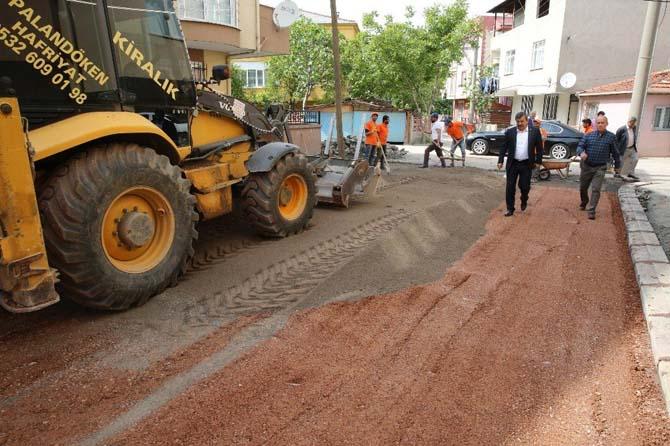 Başkan Karabacak, üst yapı çalışmalarını inceledi