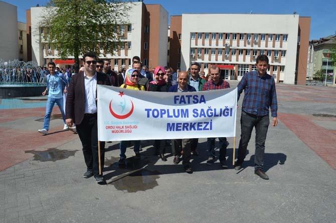 Fatsa'da 'Sağlıklı Yaşam Yürüyüşü'