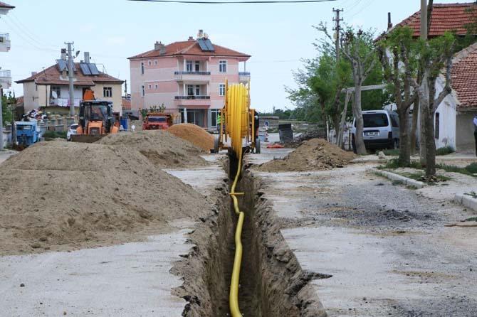 Karaman'da üç mahalle daha doğal gaza kavuşuyor