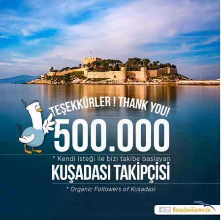 Kuşadası Güvercin'in takipçi sayısı 500 bini aştı