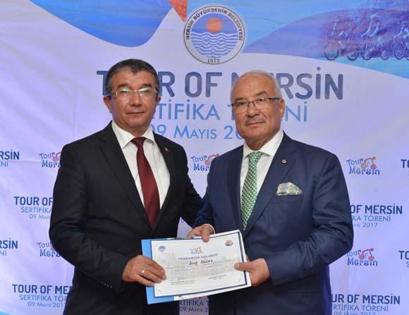 Başkan Kocamaz'dan Tour Of Mersin'e katkı verenlere teşekkür