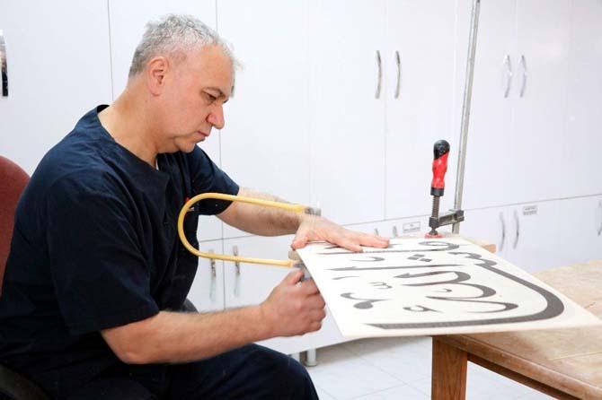 35 yıldır Naht sanatını Yozgat'ta yaşatıyor