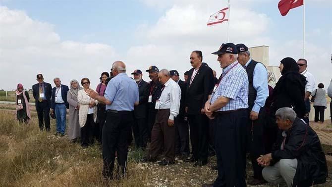 Muharip gaziler Kıbrıs'ı gezdi