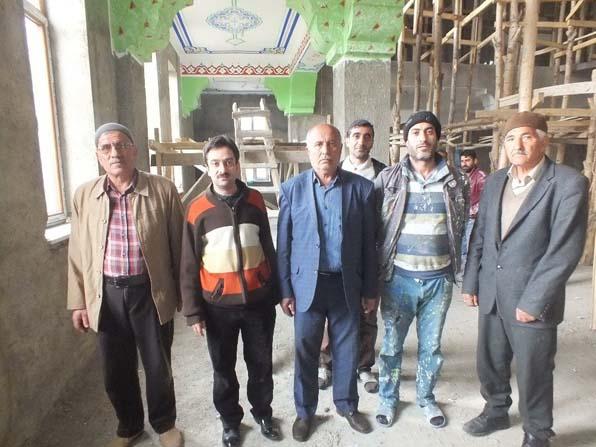 1071 Kümbet Camii inşaatında sona gelindi