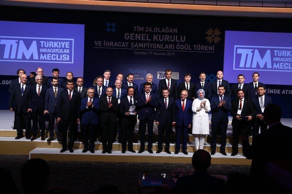 Altunkaya'ya Türkiye ihracat şampiyonu ödülü