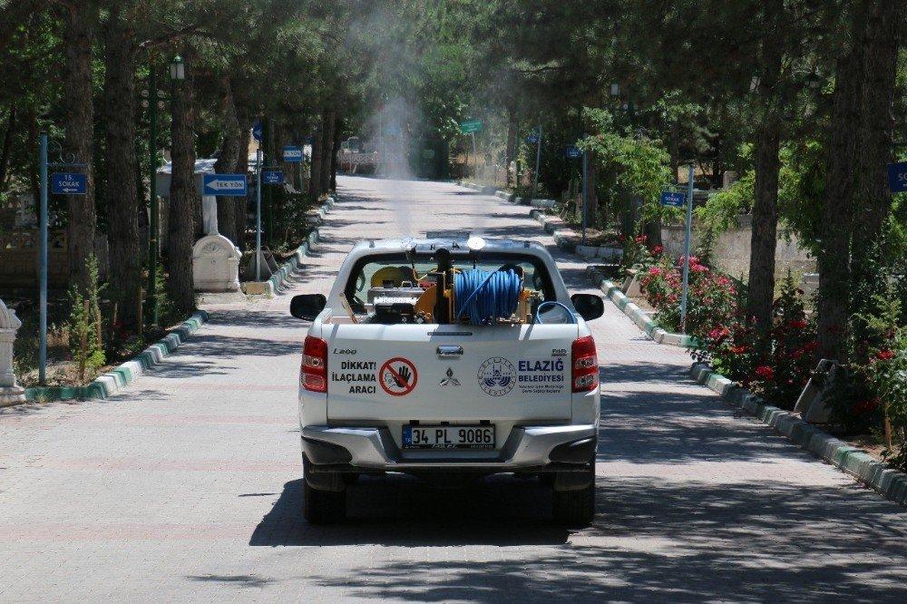 Elazığ'da ilaçlama çalışması