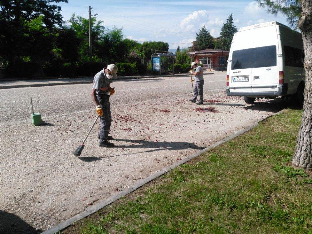 Alaşehir'de kent temizliğine özel ilgi