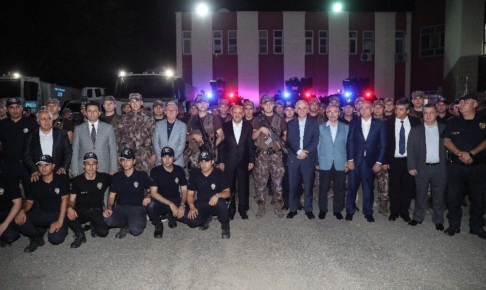Bakan Işık Mardin'de polislerle bir araya geldi