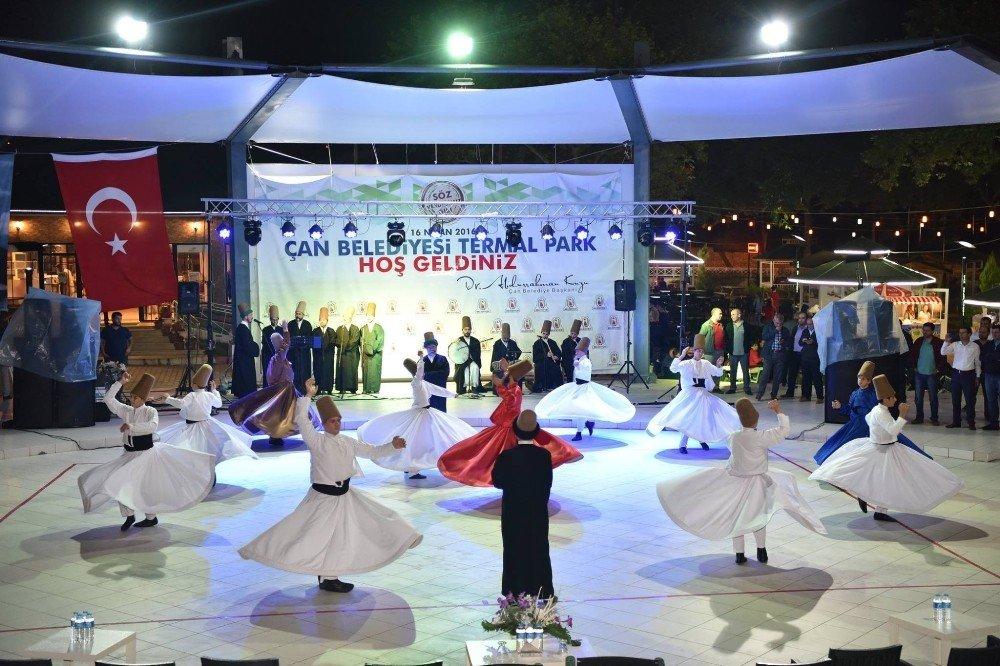 Çan Belediyesi 9'uncu Ramazan Etkinlikleri'nde mest eden semazen gösterisi