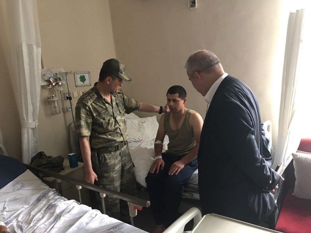 Hastanede yatan askerlerin sabah taburcu olması bekleniyor
