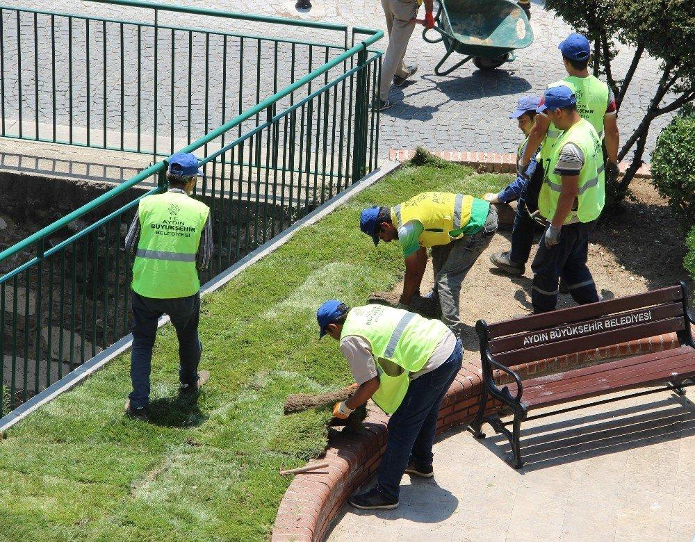 Aydın Büyükşehir Belediyesi yeşillendirme çalışmalarına devam ediyor