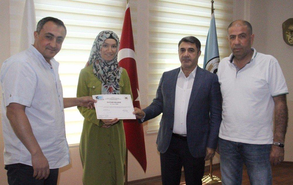 Girişimcilere sertifikaları törenle verildi