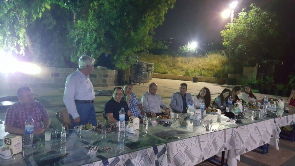 Jandarma komutanı ile cumhuriyet savcısına veda yemeği