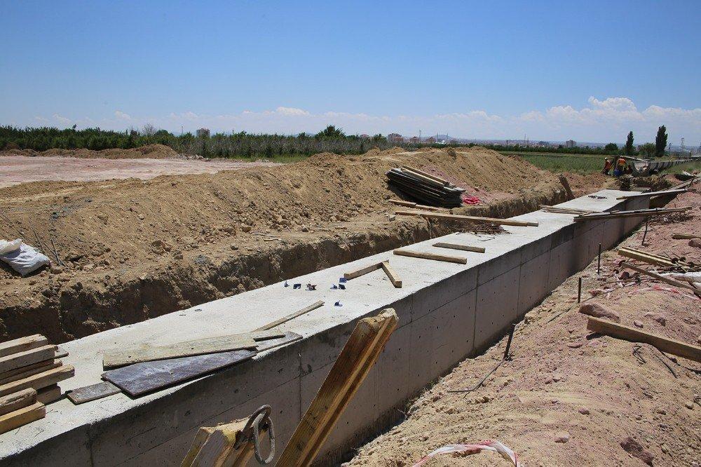 Karaman'da yeni çevre yolunda ikinci etap çalışmaları devam ediyor