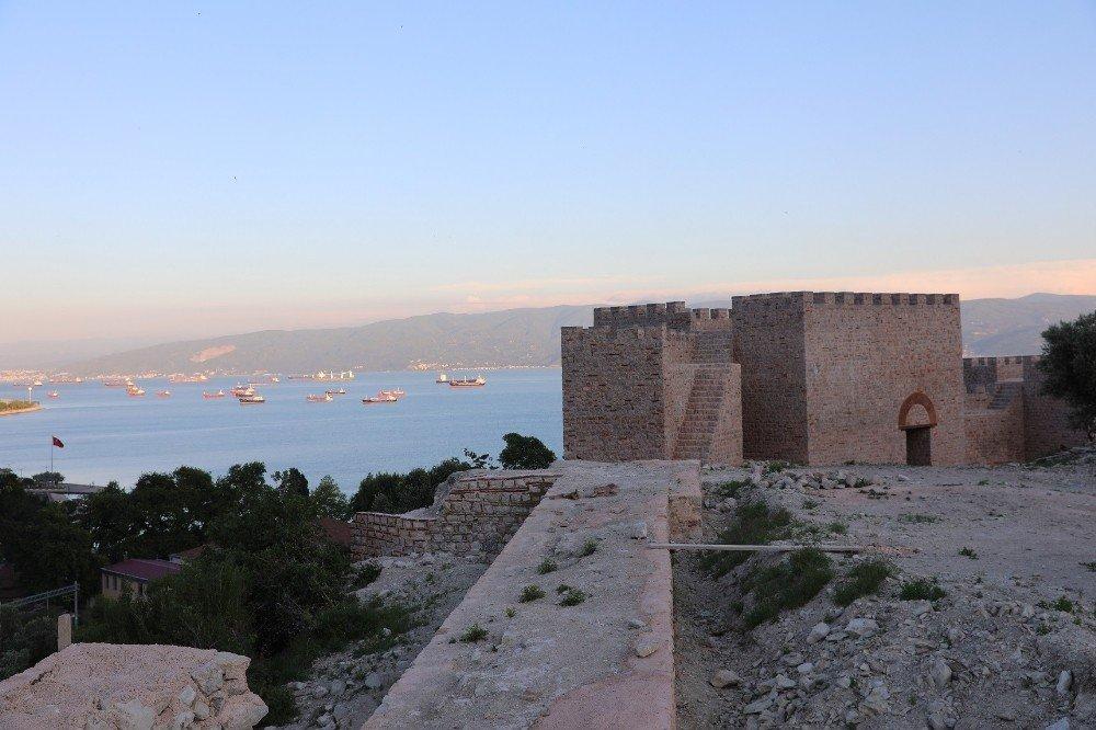 1400 yıllık tarihi Hereke Kalesi gün yüzüne çıkarılıyor