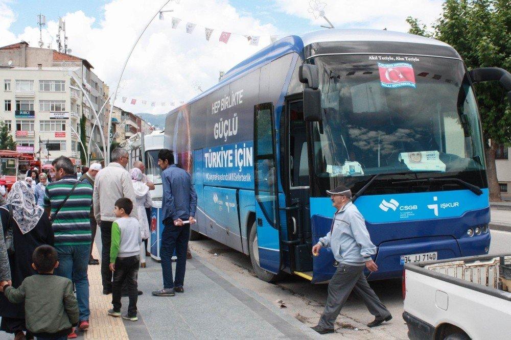 İstihdam otobüsü Tokat'ta