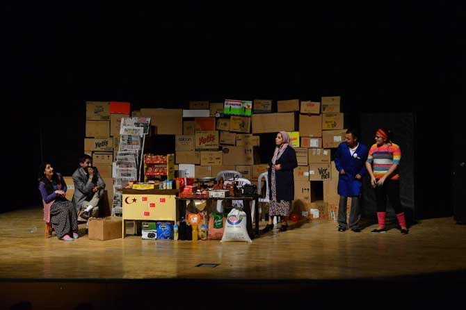 Erbaa'da 'Kahraman Bakkal Süpermarkete Karşı' adlı tiyatro sahnelendi