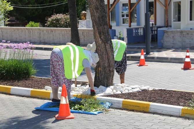 Burhaniye'de refüjlere belediye makyajı