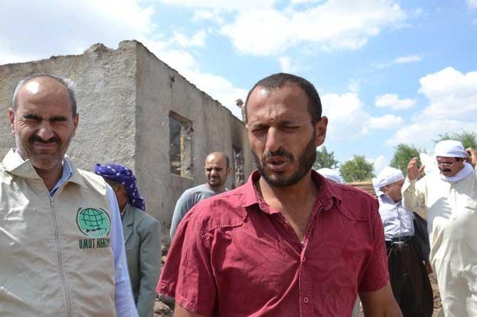 Siverek'te evi yanan aileye yardım eli uzandı