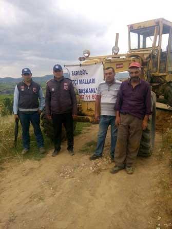 Sarıgöl Çiftçi Malları Koruma Başkanlığı'ndan arazi yollarında çalışma