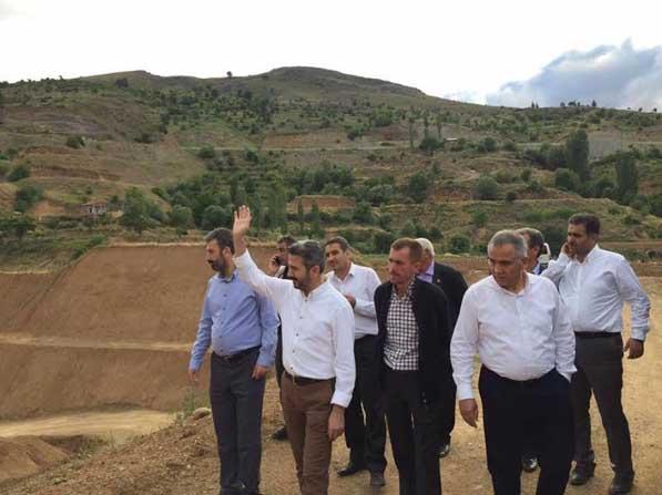 TBMM Başkanvekili Aydın ve milletvekilleri Çat Barajı tünelini inceledi