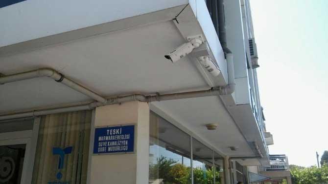 TESKİ binaları 7/24 güvenlik kameraları ile izleniyor