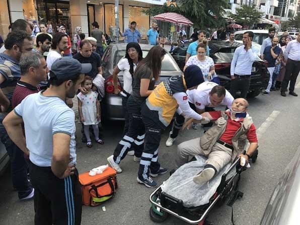 Kamyonetin çarptığı down sendromlu adam yaralandı