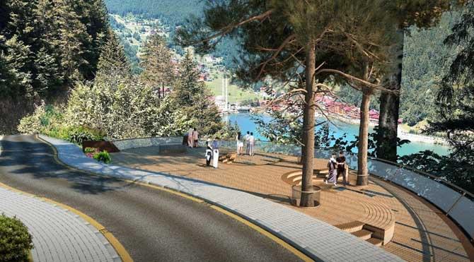Uzungöl'e seyir terası projesi
