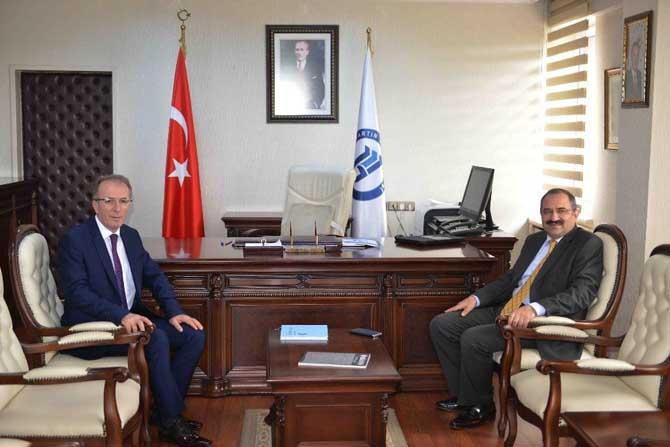Zonguldak Valisi Kaban, Rektör Uzun'u ziyaret etti