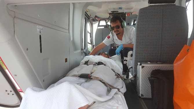 Hava ambulansı elektrik akımına kapılan Nazlıcan için havalandı