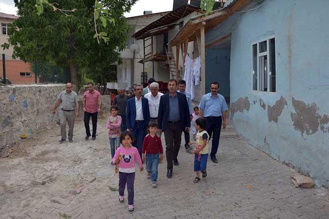 VASKİ Genel Müdürü Çatak'ta incelemelerde bulundu