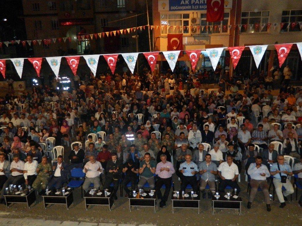 Doğanşehir'de 15 Temmuz'u anma programı
