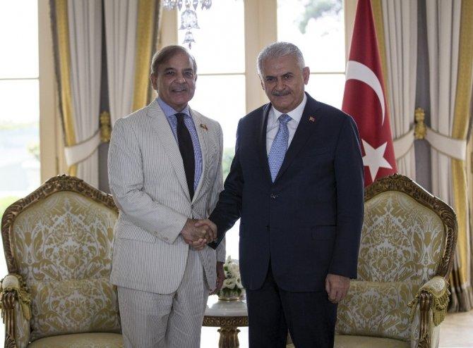 Başbakan Yıldırım, Pencap Eyaleti Başbakanı Şerif'i kabul etti