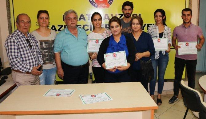 Elazığ'da 21 kursiyere sertifika verildi