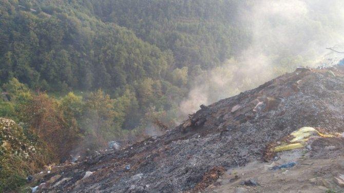 Kastamonu'da çöplük alanda yangın