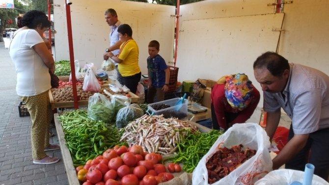 Burhaniye' de organik ürünler ilgi görüyor