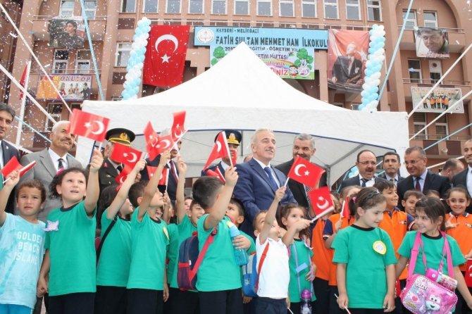Kayseri'de bin 103 okulda ilk ders zili çaldı